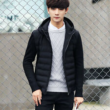 Men's Winter Warm Hooded Thick Bubble Coat Casual Jacket Parka Outerwear Tops