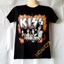 KISS Alive 35 Tee Shirt Heavy Metal Punk Rock Band Black Short T-shirt New S-XL