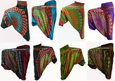 INDIAN BAGGY GYPSY HAREM PANTS YOGA MEN WOMEN STYLISH CHAKRI PRINT TROUSERS 8q