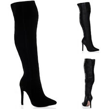 WOMENS HIGH HEEL STILETTO OVER KNEE TALL BOOTS SZ 5-10
