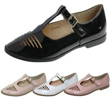 Womens T Bar Mary Jane Pumps Ballerina Ladies Sandals Flat Cut Out Shoes Size