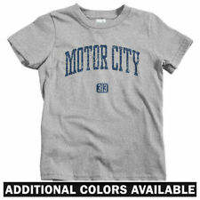 Motor City 313 Detroit Kids T-shirt - Baby Toddler Youth Tee Lions Wings Pistons