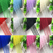 10yards 45mm Fabric Embroidered Lace Bilateral Trim Ribbon Sewing