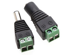 10Pairs 12v DC Male&Female Power Balun Connector Adapter Plug Jack For CCTV SD