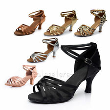 Hot Wholesale Brand New Women's Ballroom Latin Tango Dance Shoes heeled Salsa