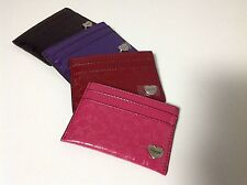 Coach Perforated Embossed Liquid Gloss Card Case F62405