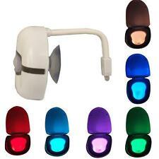 Home LED Toilet Bathroom Night Light Motion Activated Seat Sensor Lamp 8 Colors
