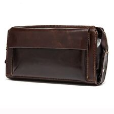 Men Wallets Genuine Leather Zipper Long Male Clutch Bags Purse Small Hand Bag