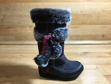 TIMBERLAND WINTERBERRY SNOW BOOT / BLACK WITH FUR / TODDLER SIZE 5