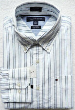 NWT Tommy Hilfiger Men's Long Sleeve Striped Shirt Size: M