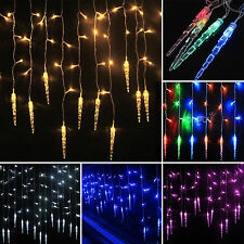 Icicle Hanging Window Curtain String Fairy Lights Xmas Wedding Party Lamps Decor