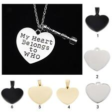 Heart Shaped Stainless Steel Blank Dog Tag Pendant For Necklaces Jewelry Making