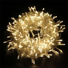 500 LED String Fairy Lights Indoor/Outdoor Xmas Christmas Garden Party 4  Colors
