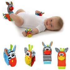 Infant Baby Cute Animal Wrist Foot Sock Rattles Soft Developmental Toy Finders T