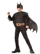New Boys MUSCLE BATMAN the Dark Knight costume dress up Size 4/6 8/10 black cape