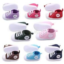Toddler Boys Girls Canvas Soft Sole Crib Shoes Baby Kids Sneakers Shoes 0-12M