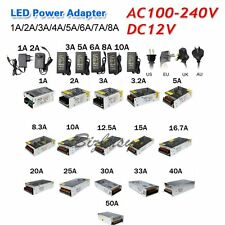 AC100V-240 To DC12V Switch Power Supply Driver Transformer For LED Strip Adapter