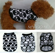 Pet Dog Skull Vest T Shirt Cute Summer Puppy Clothes Apparel Costumes XXS-XXL