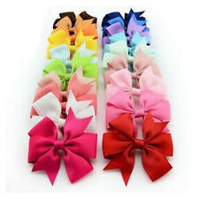 Hot Girls Hairpin Grosgrain Ribbon Bow Fashion Clips Big 1PC Boutique Hair Baby