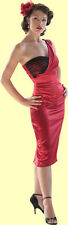 Stop Staring! Sexy Red Satin One Shoulder Dress.  New With All Sizes