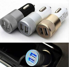 New Dual USB Car Charger 2 Port Adapter For Smart Mobile Cell Phone Universal WU