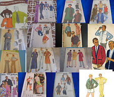 U Pick Mens or Unisex Sewing Patterns