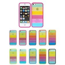 Rainbow Colour Bumper Hard Skin Back Case Cover Protector For Apple iPhone 5S 5