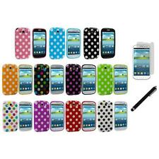 TPU Polka Dot Cover Case+LCD Film+Stylus for Samsung Galaxy S3 S III i9300