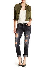 True Religion Liv Low Rise Embellished Relaxed Skinny Jean $329 nwt 26-27-28 BLK
