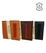 MENS GENTS REAL SOFT QUALITY LEATHER WALLET PURSE CARD HOLDER HAND CRAFTED
