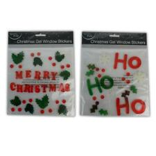 Christmas Gel Window Stickers - Reusable Mirror Glass Decoration Clings Reuse