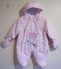 5-7lbs Tiny Baby Premature or Newborn Girls Snowsuit All In One Gift Wrapped