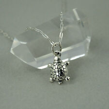 Turtle Charm Necklace - 925 sterling silver, turtle charm