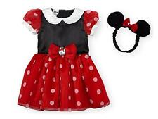 Baby Disney Girl MINNIE MOUSE costume dress Size 3 6 9 12 18 Mo Red headband NWT