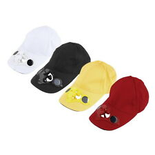 Summer Sport Outdoor Hat Cap with Solar Sun Power Cool Fan For Cycling KG