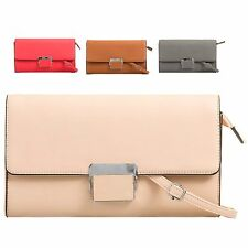 Ladies Designer Faux Leather Clutch Bag Evening Bag Xmas Party Bag Handbag KT625