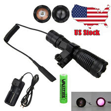 US 5W 850nm Zoomable Night Vision IR Infrared Flashlight Hunting Torch Gun Lamp