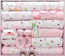 Newborn Baby cotton Clothes Girl Boys Clothing set Cute infant Clothes suit 18pc