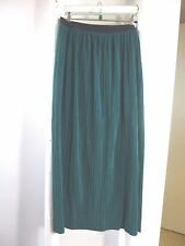 BNWT M&S Per Una long green lined  crinkle maxi skirt  8  20  39 inches long