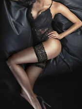 Couture Ultra Gloss Hold Ups, Deluxe 10 Denier Floral Top Thigh Highs