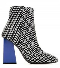 Women's New Size 6.5- Jeffrey Campbell-Mid Ankle boot- Blue heel