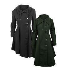 Women's Slim Long Coat Jacket Irregular Trench Windbreaker Parka Warm Outerwear