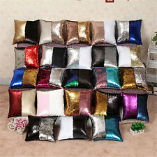 Sequin Mermaid Sofa Bed Cushion Cover Pillow Cases Pillow Core Filler inserts EA
