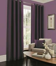 Faux Silk Curtains - Lined Aubergine pencil Pleat Tape Top Curtains