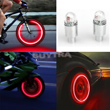 2 x LED Neon Car Bike Wheel Tire Tyre Valve Dust Cap Spoke Lights Cool SD