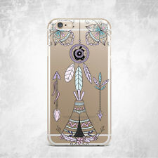 Aztec Vintage Ethnic Arrow Soft Silicone TPU Rubber Case Cover Back iPhone Plus