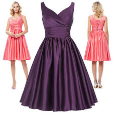 V-neck Long Sexy Evening Party Ball Prom Gown Formal Bridesmaid Cocktail Dress