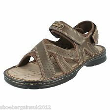 Mens Boys New Brown Northwest Territory Leather Sandals Flat Beach Shoes UK 7-12