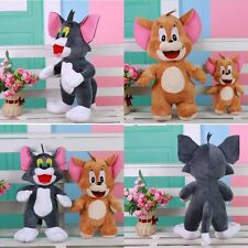 Cartoon Cute Tom and Jerry Soft Stuffed Doll Plush Toy Anime Cat & Mouse Figure