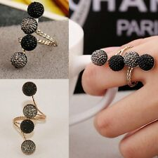 Women Simple Resin Ball Adjustable Knuckle Ring Party Beaded Fashion Jewelry New